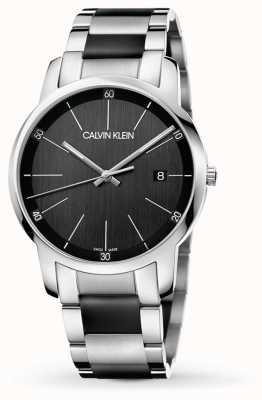 Calvin Klein   mens stad   tweekleurige roestvrijstalen armband   K2G2G1B1