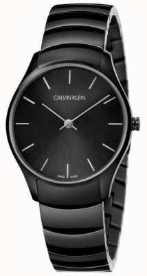 Calvin Klein   klassiek te kijken   zwarte roestvrijstalen armband   K4D22441