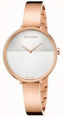 Calvin Klein | womens rise extension | rosegouden armband | tweekleurige wijzerplaat K7A23646