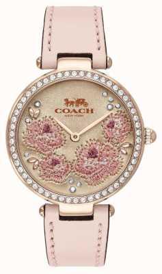Coach | dames park horloge | roze leren riem | 14503285
