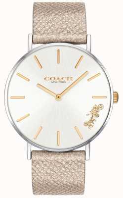 Coach | vrouwen perry horloge | crème riem | 14503157