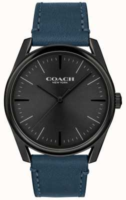 Coach | heren moderne luxe horloge | blauwe leren riem | 14602399