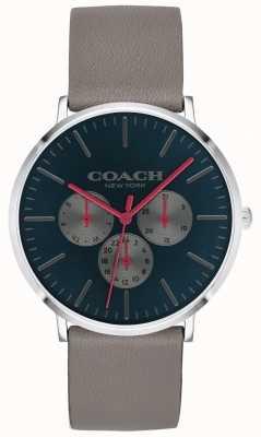 Coach | heren varick horloge | chronograafbeige riem zwarte wijzerplaat | 14602390