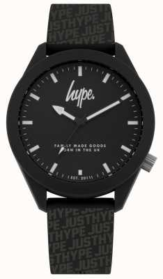 Hype | zwarte hype print siliconen | zwarte wijzerplaat | HYG017B