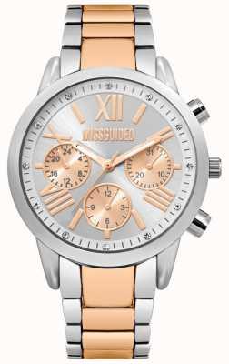 Missguided | dameshorloge | tweekleurige roestvrijstalen armband | MG008SRM