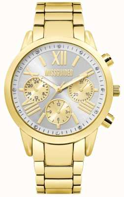Missguided | dames gouden chronograaf | MG008GM
