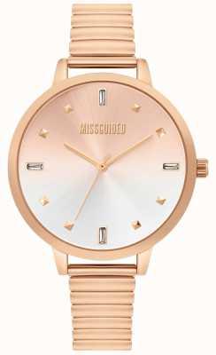Missguided | dames rose gouden horloge | MG012RGM