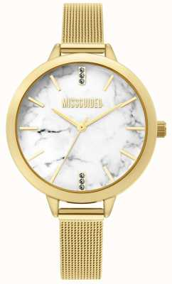 Missguided   dames gouden mesh horloge   MG011GM