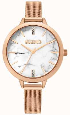 Missguided | dames roségouden horloge | MG011RGM