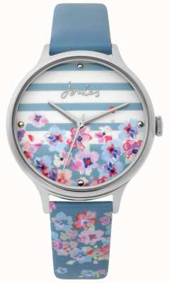 Joules | dameshorloge | lichtblauwe bloemenprintriem | JSL015US