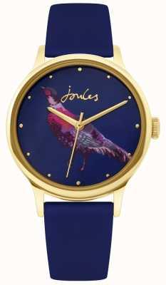 Joules | dames navy siliconen band | fazanten wijzerplaat | JSL010UG