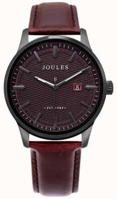 Joules | heren marfield horloge | bruine leren riem | bruine wijzerplaat | JSG009BRB