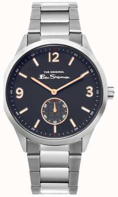 Ben Sherman   heren roestvrij stalen horloge   blauwe wijzerplaat   BS020SM