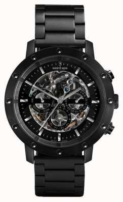 Weird Ape Icarus 3 dial all zwart / zwart armbandhorloge WA02-005700