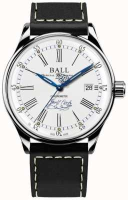 Ball Watch Company Trainmaster streven chronometer gelimiteerde editie leer NM3288D-L2CJ-WH
