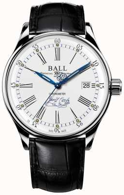 Ball Watch Company Trainmaster streven chronometer gelimiteerde editie leer NM3288D-LL2CJ-WH