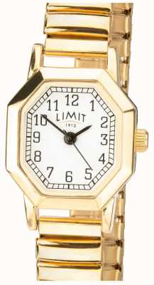 Limit | womens gold tone expandable bracelet | witte wijzerplaat | 6498