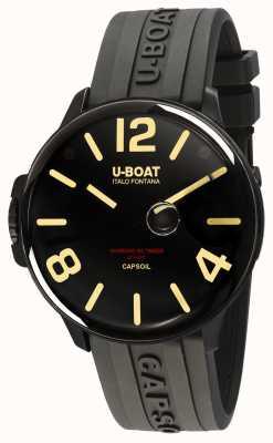 U-Boat Capsoil dlc elektromechanica zwarte rubberen band 8108/A