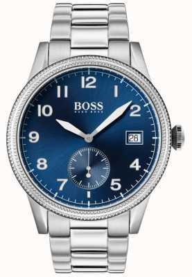 Boss   heren legacy horloge   roestvrij staal   blauwe wijzerplaat   1513707