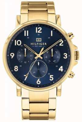 Tommy Hilfiger | heren goud en marine daniel horloge | 1710384