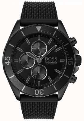 Hugo Boss | mens ocean edition | zwarte wijzerplaat | zwarte riem | 1513699