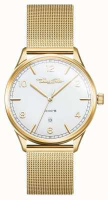 Thomas Sabo | edelstalen gouden mesh armband | witte wijzerplaat | WA0340-264-202-40