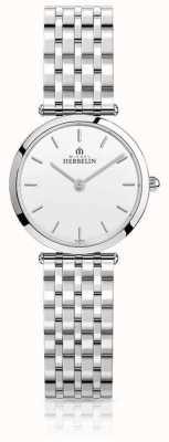 Michel Herbelin | dames | epsilon | roestvrij stalen armband | witte wijzerplaat | 17116/B11