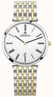 Michel Herbelin | heren | epsilon | extra platte tweekleurige armband | 19416/BT11
