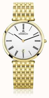 Michel Herbelin | heren | epsilon | extra platte gouden pvd armband | 19416/BP01N