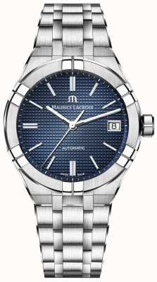 Maurice Lacroix Aikon automatisch 39mm blauwe wijzerplaat roestvrij staal AI6007-SS002-430-1