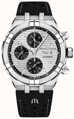 Maurice Lacroix Aikon automatische chronograaf zwarte panda wijzerplaat zwarte band AI6038-SS001-132-1