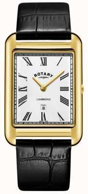 Rotary   heren vergulde armband   witte wijzerplaat   GB05283/01