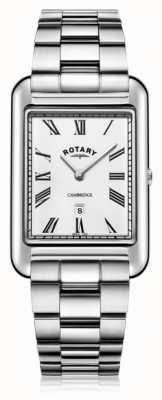 Rotary | heren armband in edelstaal | witte wijzerplaat | GB05280/01