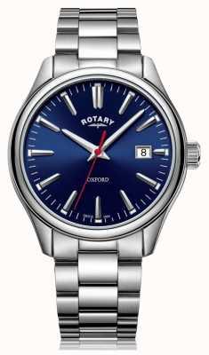 Rotary | heren armband in edelstaal | blauwe wijzerplaat | GB05092/53