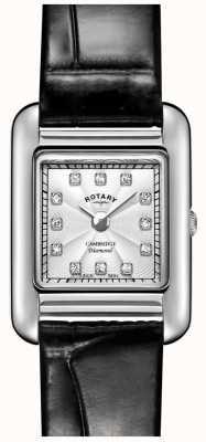 Rotary | dames zwart lederen horloge | LS05285/70/D