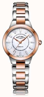 Rotary | dames two tone rosé gouden armband | LB05377/41