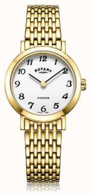 Rotary vergulde damesarmband | LB05303/18
