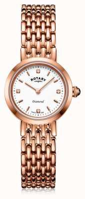 Rotary   dames rosé gouden armband   LB00901/70/D