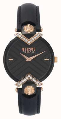 Versus Versace | zwarte lederen damesriem VSPLH1419