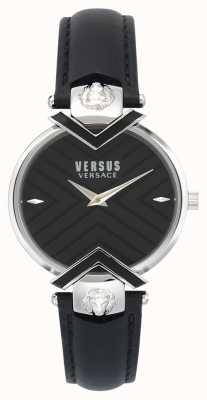 Versus Versace | dames zwarte lederen band | VSPLH0119