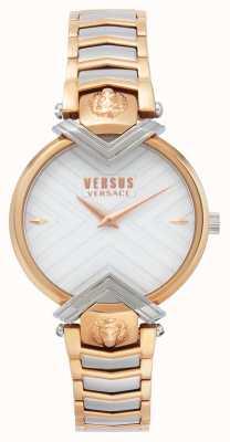 Versus Versace | dames tweekleurige armband | witte wijzerplaat | VSPLH0719