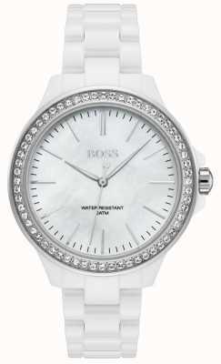 Boss | dames witte armband | witte wijzerplaat | 1502454