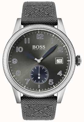 Hugo Boss | heren grijze canvas riem | legacy horloge | 1513683