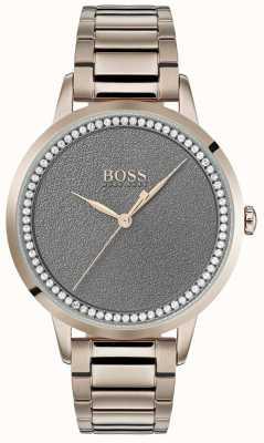 Boss | womens twilight watch | roestvrij staal | grijze wijzerplaat | 1502463