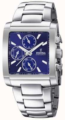 Festina | heren roestvrij stalen chronograaf blauwe wijzerplaat | F20423/2
