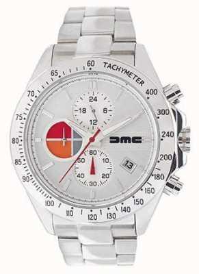 DeLorean Motor Company Watches 1981 zilverleer | zilveren wijzerplaat | zwart leer | DMC-7