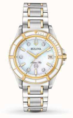 Bulova Mariene ster tweekleurige armband voor dames 98P186