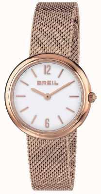 Breil | dames iris rosegouden mesh band TW1778