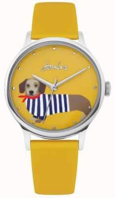 Joules | dames gele rubberen riem | worst hond printplaat | JSL010Y