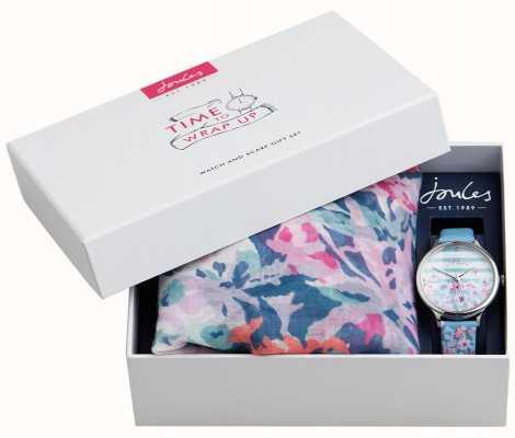 Joules | dameshorloge en sjaalgeschenkset | JSL015USSET